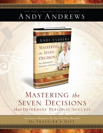Mastering the Seven Decisions - Andy Andrews