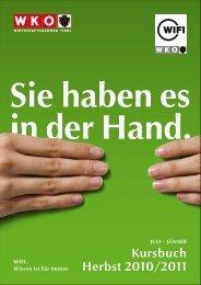 Kursbuch Herbst 2010/2011 - WIFI Tirol