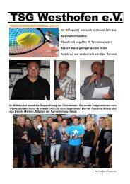 Saisonabschlussfest. - TSG Westhofen