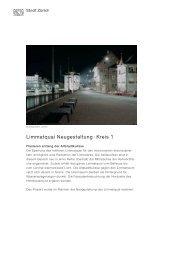 Limmatquai Neugestaltung · Kreis 1 - Stadt Zürich