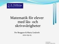 120925 JL Malmö Läs - Kul Matematik