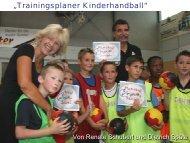 Trainingsplaner Kinderhandball