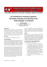 gestures: Recording, analyzing, and reporting ... - Prof. Marco Costa