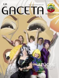 La Gaceta 251 | Julio - Agosto de 2008 - Club Cartagena