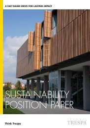 SUSTAINABILITY POSITION PAPER - Trespa