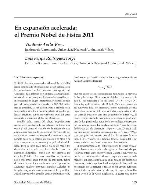 En expansión acelerada: el Premio Nobel de Física 2011