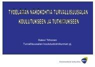 Kalevi Tiihonen Turvallisuusalan koulutustoimikunnan pj.