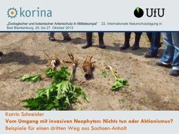 Vom Umgang mit invasiven Neophyten - Korina