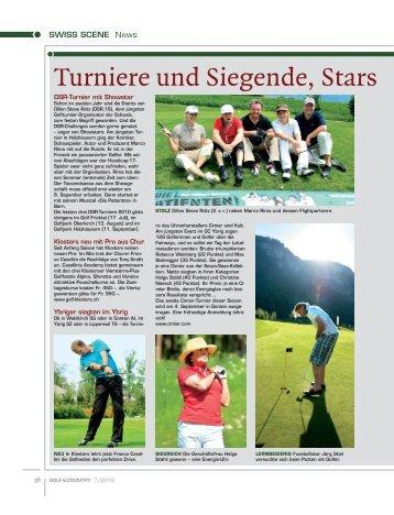 Turniere und Siegende, Stars