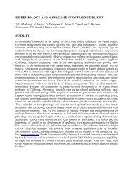 Epidemiology and Management of Walnut Blight