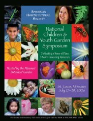 A Youth Gardening Adventure - American Horticultural Society