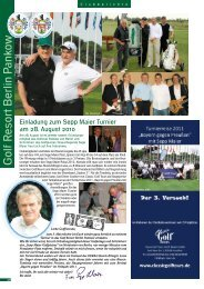 Juli 2010 - Golf Resort Berlin Pankow