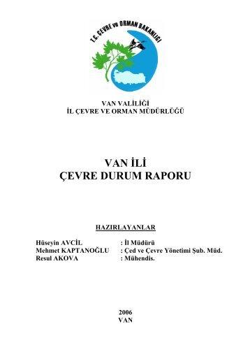 van valiliği il çevre ve orman müdürlüğü çed raporu 2006