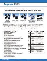 APeX Galley Connector, Rectangular (ARINC 810) - Amphenol PCD