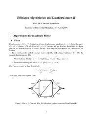 Effiziente Algorithmen und Datenstrukturen II - Lehrstuhl für ...