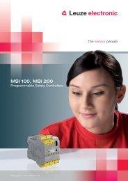 MSI 100, MSI 200 - Leuze electronic