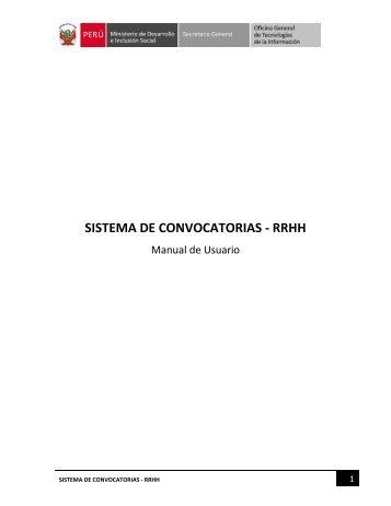 SISTEMA DE CONVOCATORIAS - RRHH