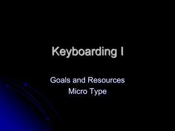 Keyboarding I