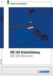BW 290 Arbeitskleidung BW 290 Workwear