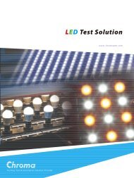 LED Test Solution - Chroma Systems Solutions Inc.
