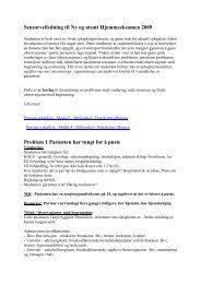Sykepleie Sensorveiledning Sykepleie2 140809 - For studenter ...