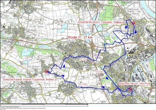 Route 31 - Top. Karte 1:50000 Nordrhein-We - Neuss Marketing
