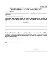 Dichiarazioni sostitutive di certificazione e dell'atto di notorietà