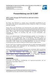 Pressemitteilung vom 20.12.2007 - 4Ing