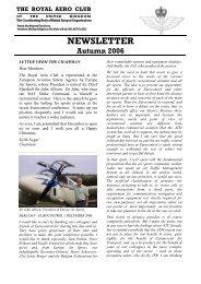 RAeC Newsletter - Autumn 2006 - Royal Aero Club