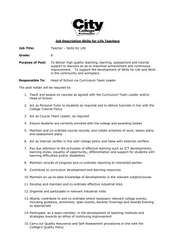 Job Title Religious Education Teacher Job Description Outstanding