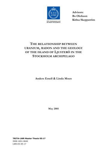 the relationship between uranium, radon and the geology of the ...