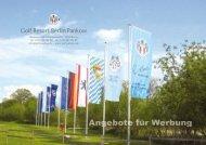 Werbetafel - Golf Resort Berlin Pankow