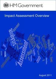 Impact assessment overview - Dius.gov.uk