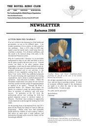RAeC Newsletter - Autumn 2008 - Royal Aero Club