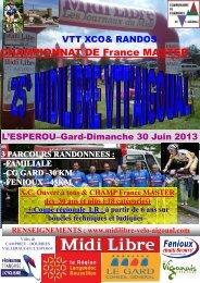 Championnat de France XCO Masters - VTT85