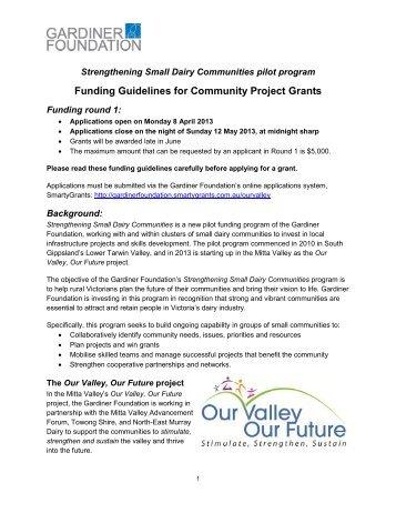 Funding Guidelines - Gardiner Foundation