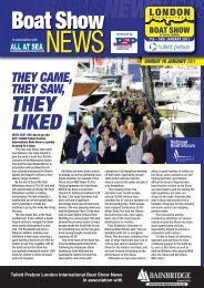 THEY LIKED - London Boat Show