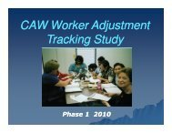 CAW Worker Adjustment Tracking Study