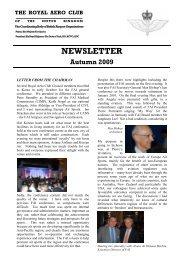 RAeC Newsletter - Autumn 2009 - Royal Aero Club