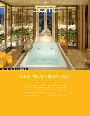 TOP SUITES OF EUROPE | 2012 - Elite Traveler