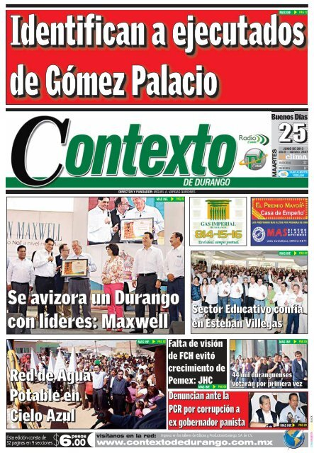 25 06 2013 Contexto De Durango