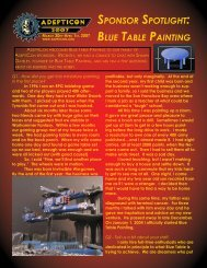 SPONSOR SPOTLIGHT: BLUE TABLE PAINTING