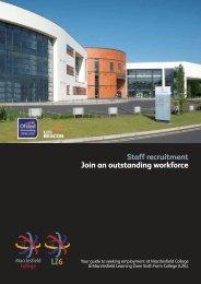 Staff recruitment Join an outstanding workforce - Macclesfield College