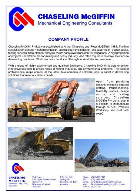 Chaseling Company Pdf Land Locomotion A Mechanical Vehicle