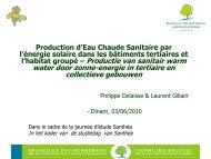 Production d'eau chaude sanitaire par l'énergie solaire dans les ...