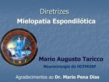 Diretrizes: Mielopatia Espondilótica