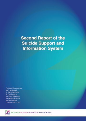 Second Report of the Suicide Support and Information System ...