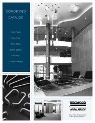 CONDENSED CATALOG - Rockwood Manufacturing