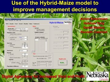 Yield potential analysis for Lincoln, NE - Hybrid Maize