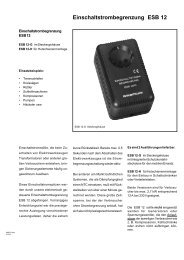 Einschaltstrombegrenzung ESB 12 - FG-Elektronik GmbH